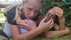 Mother Holding Children During Rocket Attack (1)