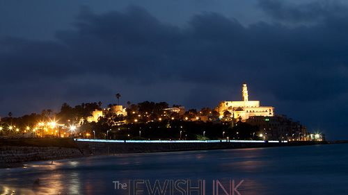 Photo credit: Israel Ministry of Tourism. Old City of Jaffa at night, overlooking the water.