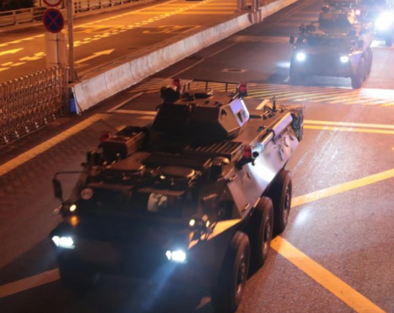 China rotates new troops into Hong Kong amid mass protests